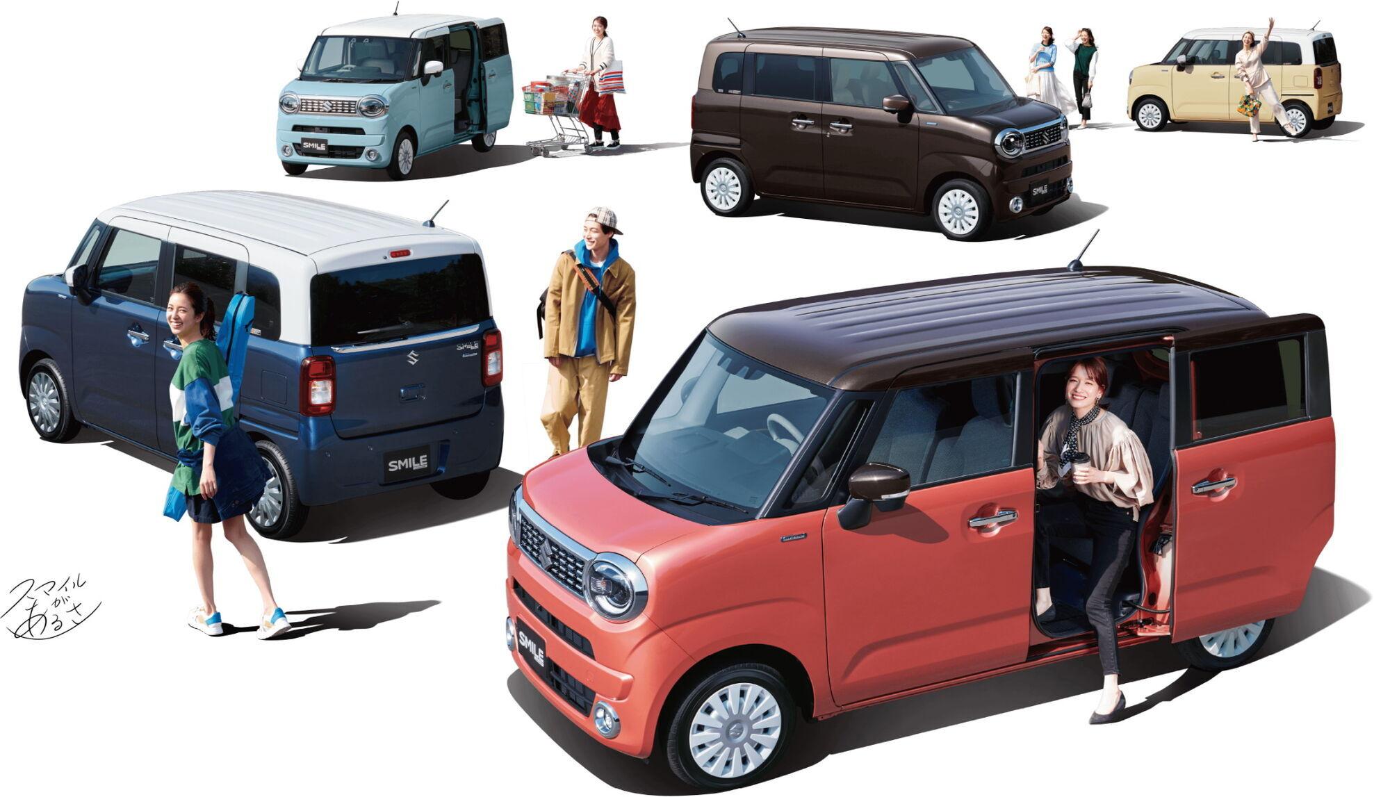 Мікровен Suzuki Wagon R Smile займе місце у модельній гаммі між Wagon R та Spacia