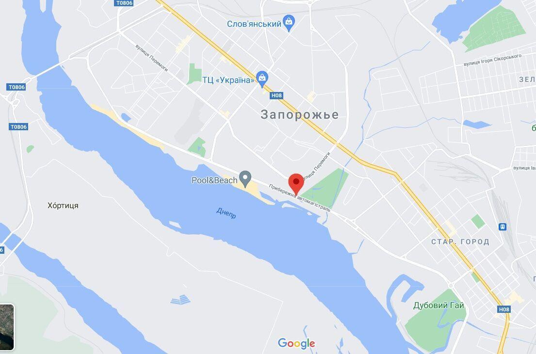 Инцидент произошел на улице Прибрежная автомагистраль.