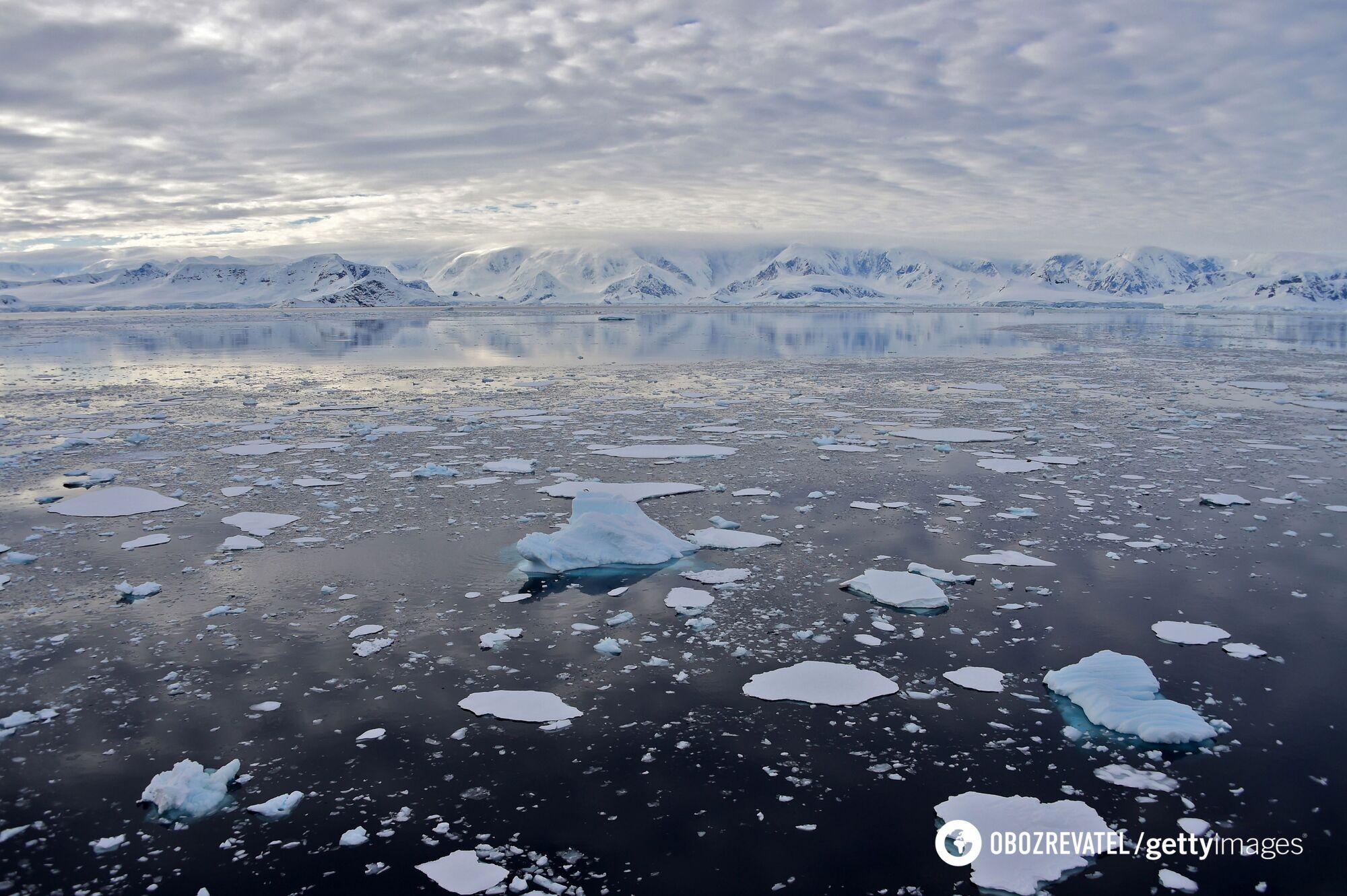 Таяние ледников в Антарктиде