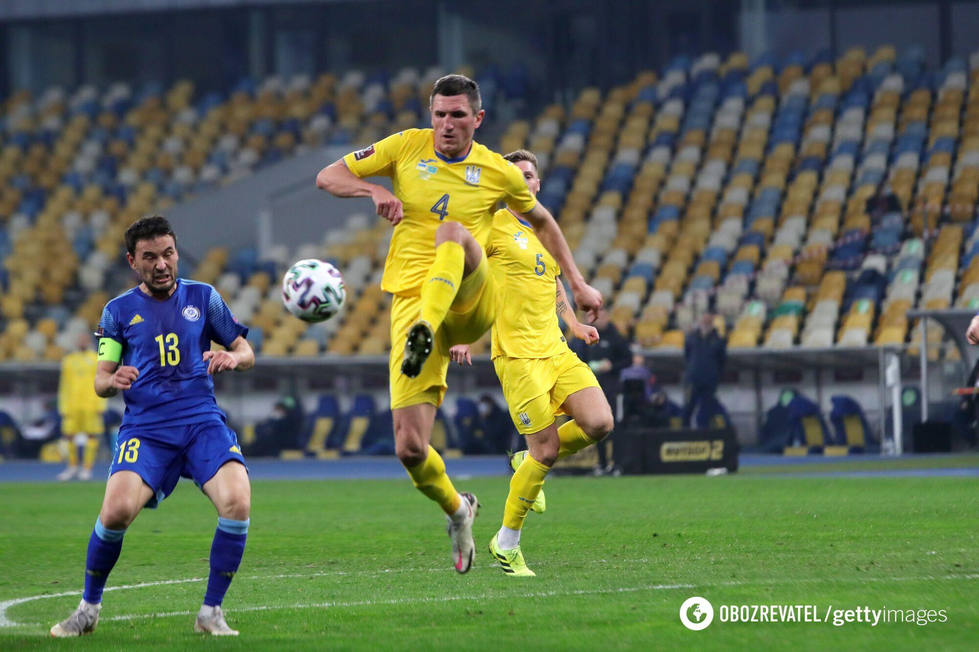 Украинцы не смогли обыграть Казахстан в Киеве.