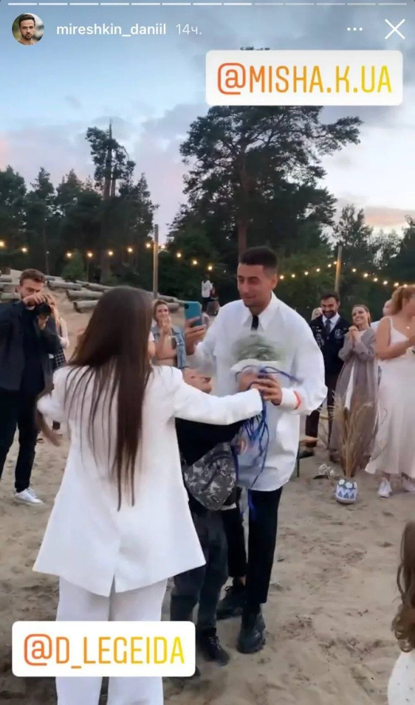 Мишину и Эллерта заметили на свадьбе звездных коллег