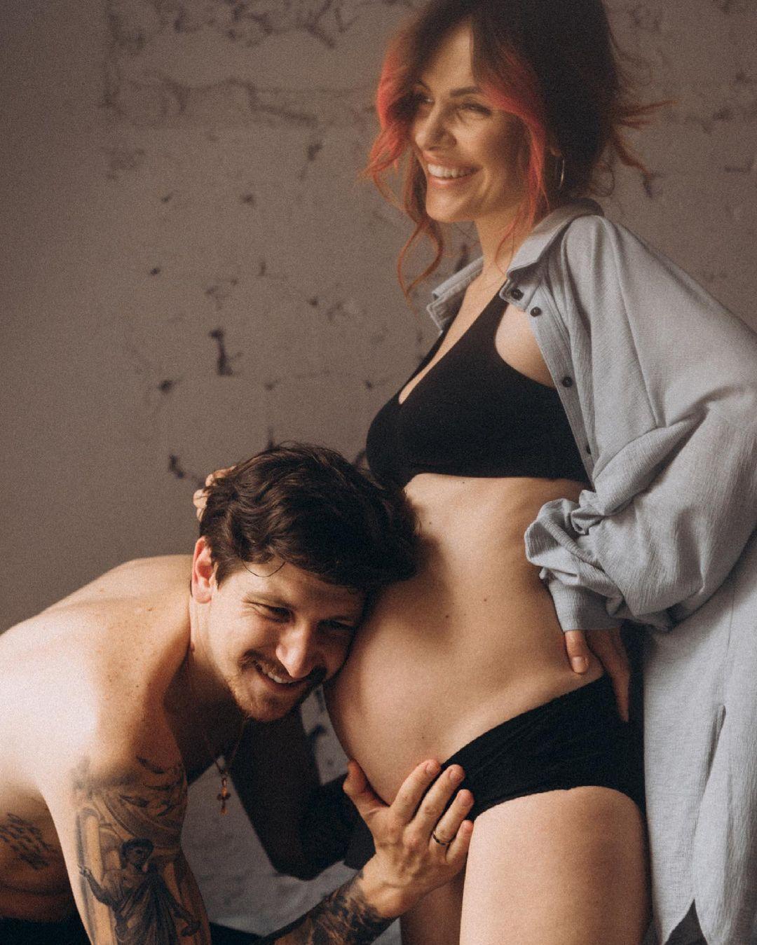 MamaRika в період вагітності.