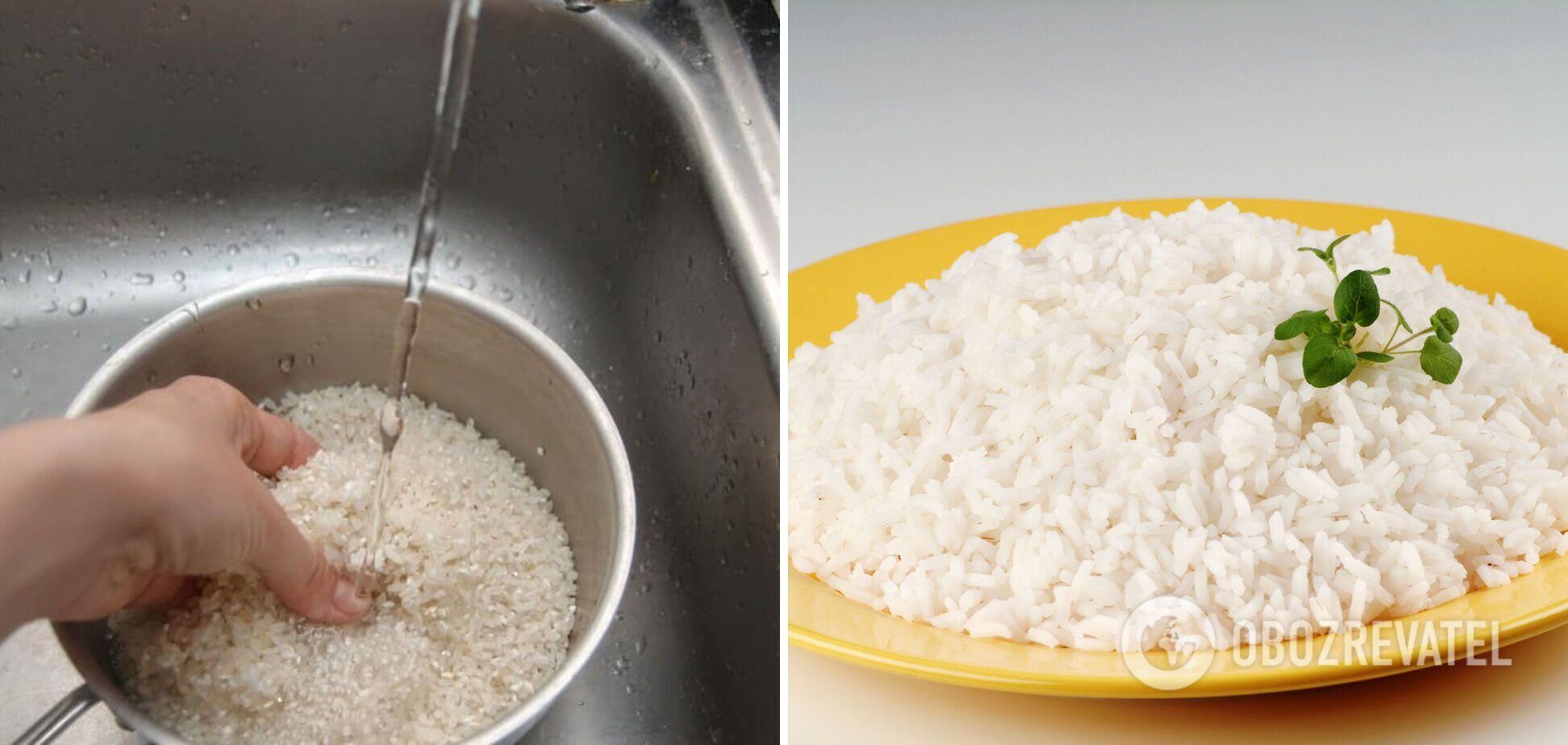 Перед варкой промойте рис 5 раз