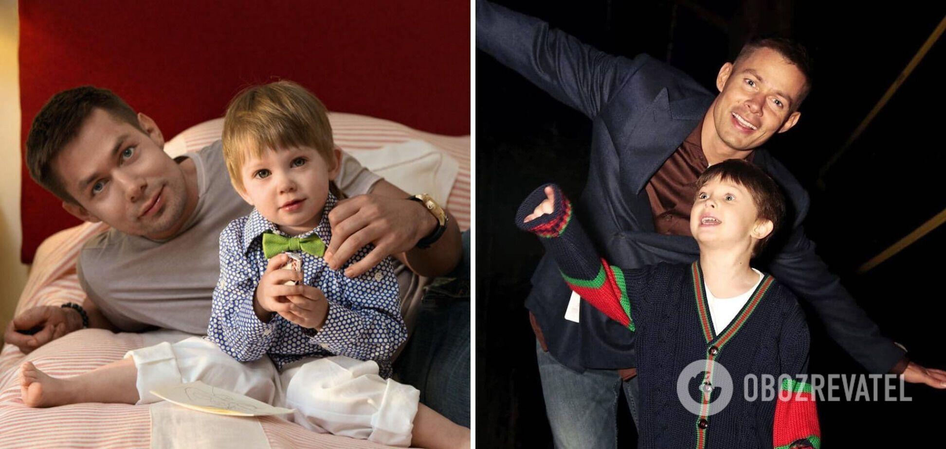 Співак Стас П'єха зі своїм 7-річним сином