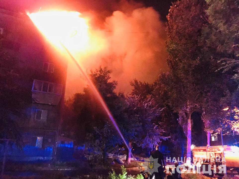Площадь пожара составила около 450 кв. метров