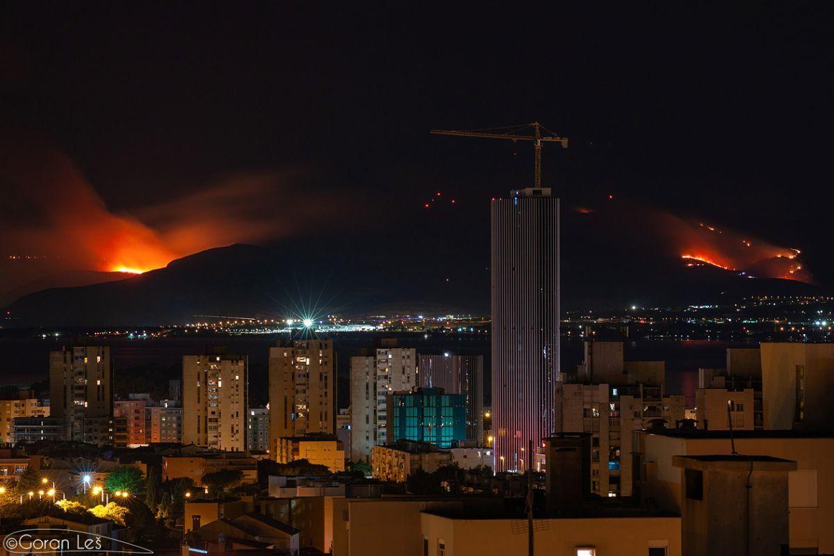 Также сгорели сосновые леса и оливковые рощи