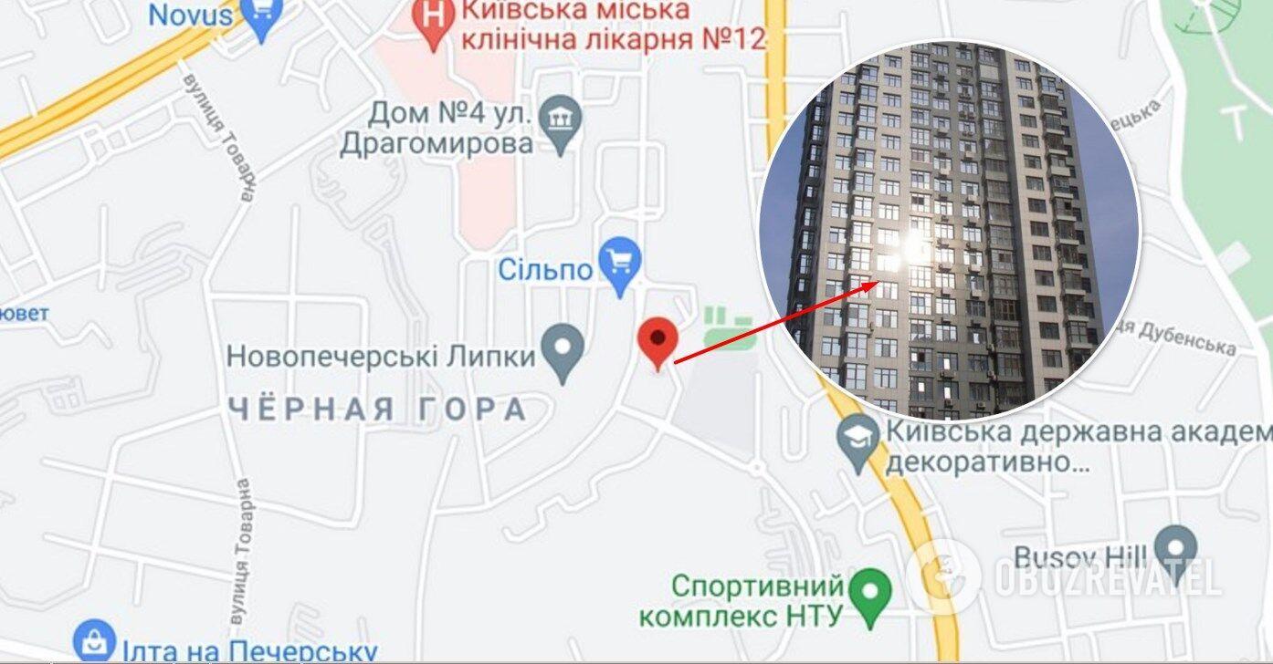 """ЖК """"Новопечерские Липки"""" находится на ул. М. Драгомирова"""