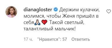 Комментарий Дианы Глостер