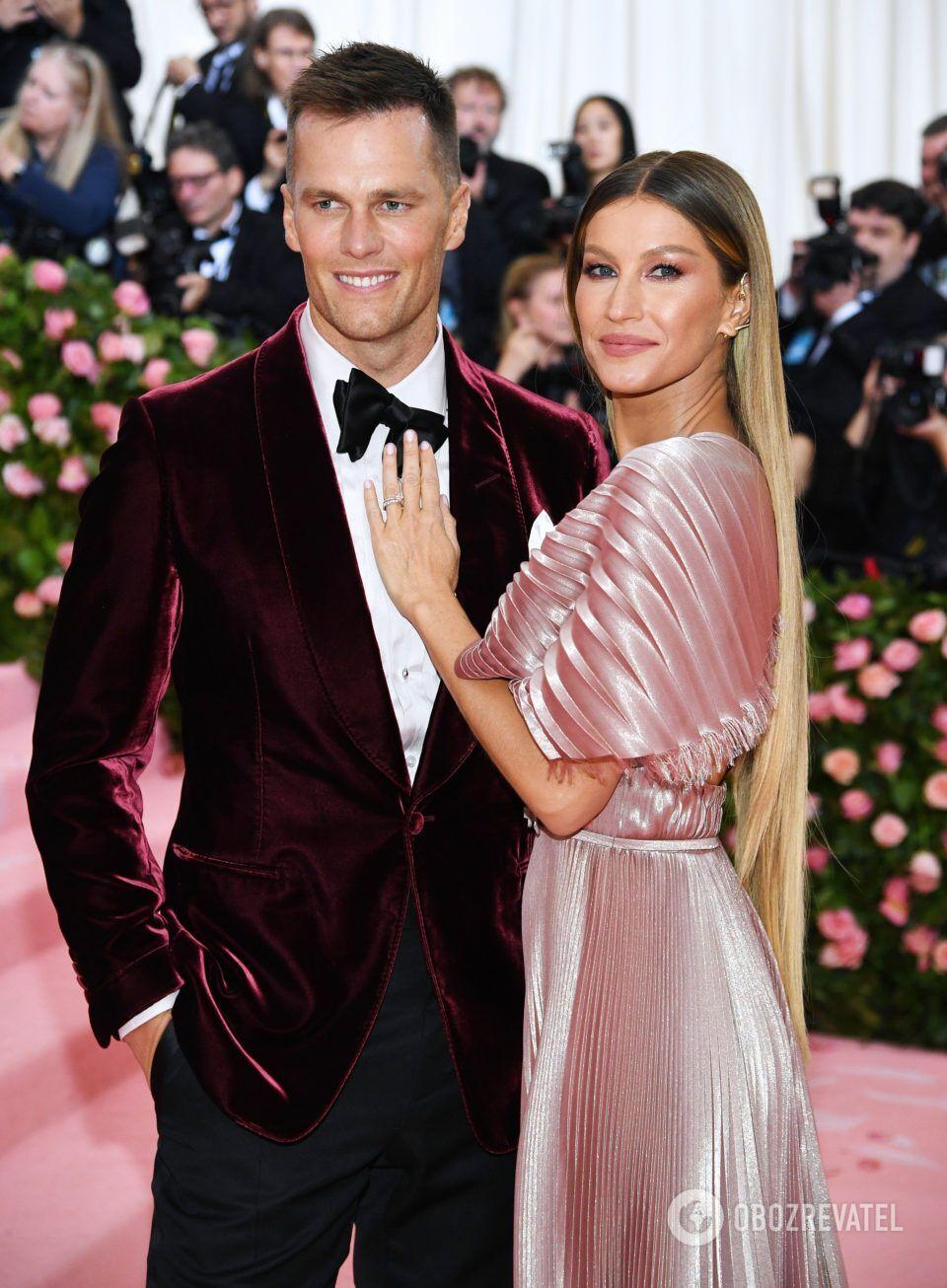 Жизель Бюндхен і футболіст Том Бреді одружилися в 2008 році