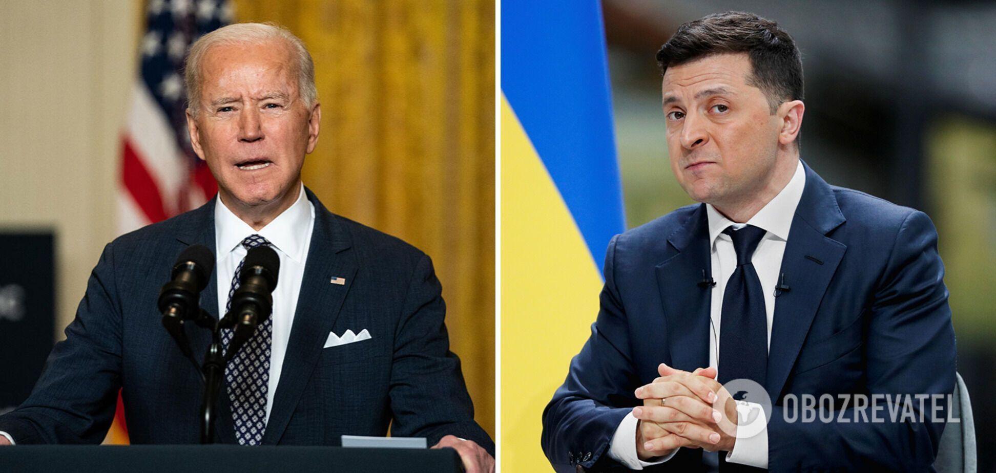 Президенти Джо Байден і Володимир Зеленський