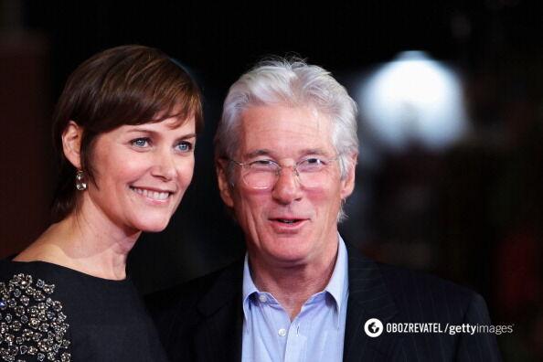 Ричард Гир с экс-супругой Кэри Лоуэлл.