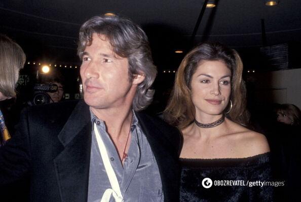 Ричард Гир с экс-супругой Синди Кроуфорд.