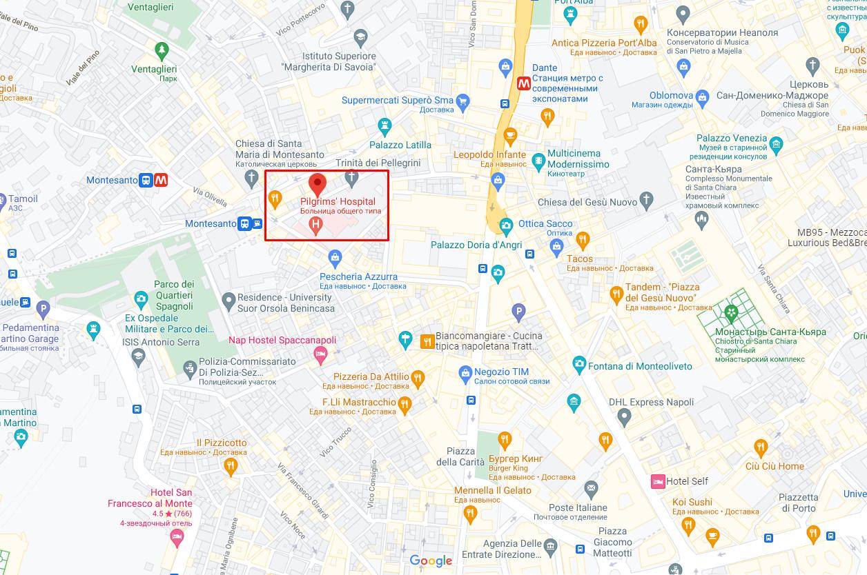 Тіло українки знайшли на вулиці Джованні Нінні, де розташована лікарня, в якій їй зробили операцію.