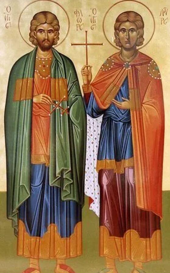 Мученики Флор и Лавр прославились зодческим искусством