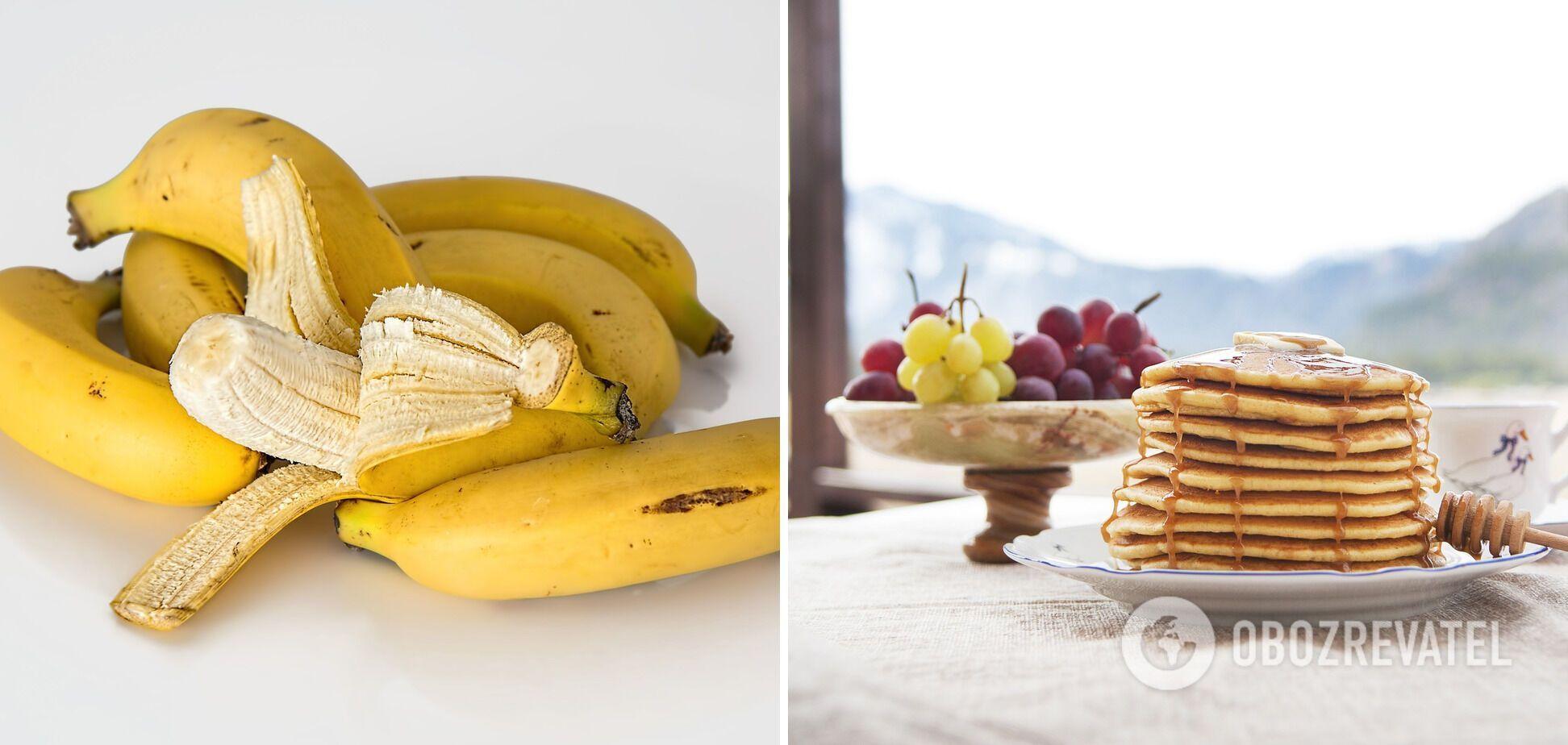 Бананові панкейки