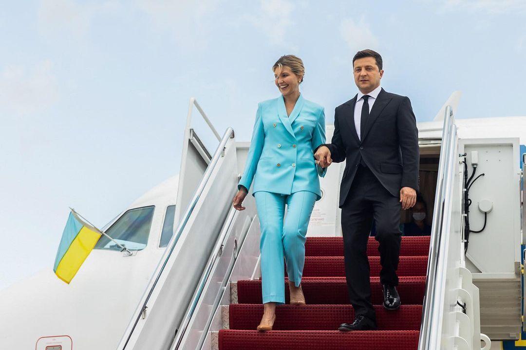 Супруга президента и украинский глава приземлились на территории США