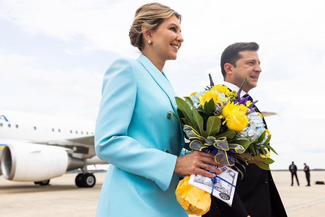Володимир і Олена Зеленські прибули в США