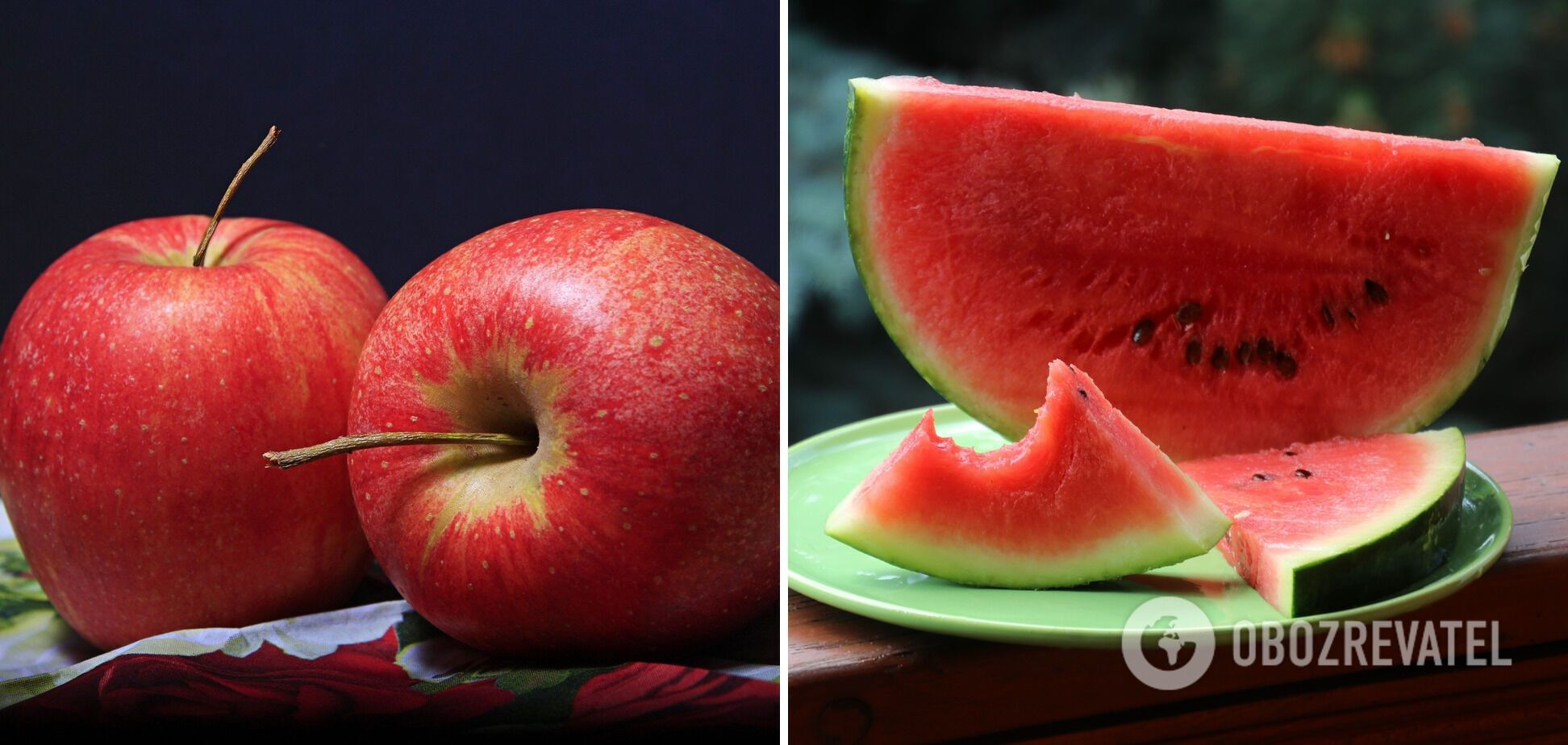 Арбуз и яблоки не стоит есть на ночь
