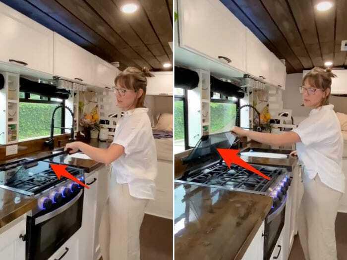 Просторная кухня в микроавтобусе