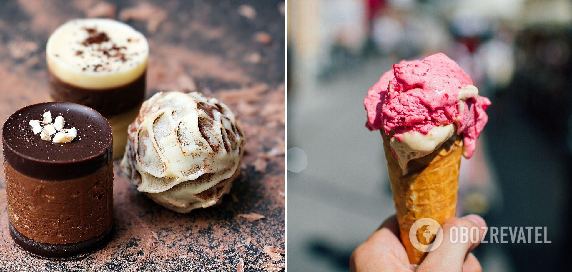 Шоколад и мороженое
