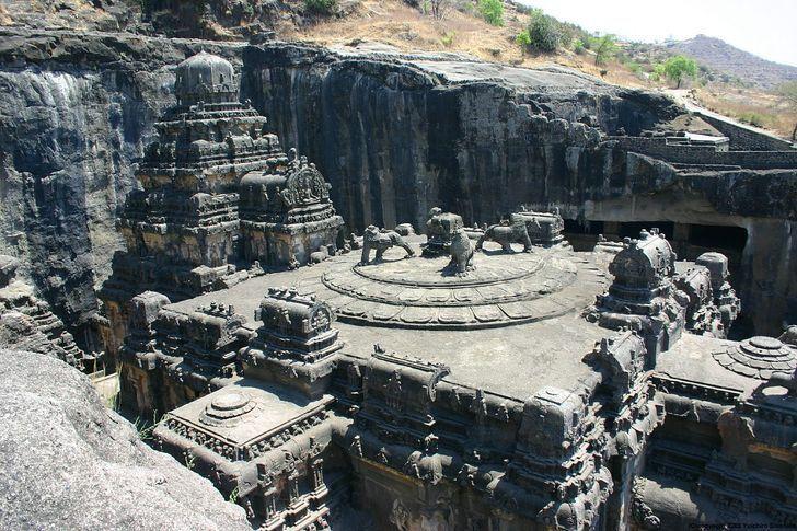 Храм Эллора в Индии
