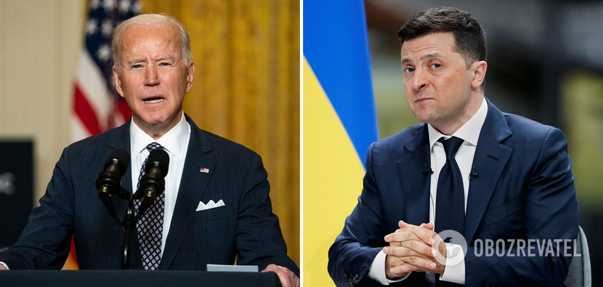 Президенты Джо Байден и Владимир Зеленский