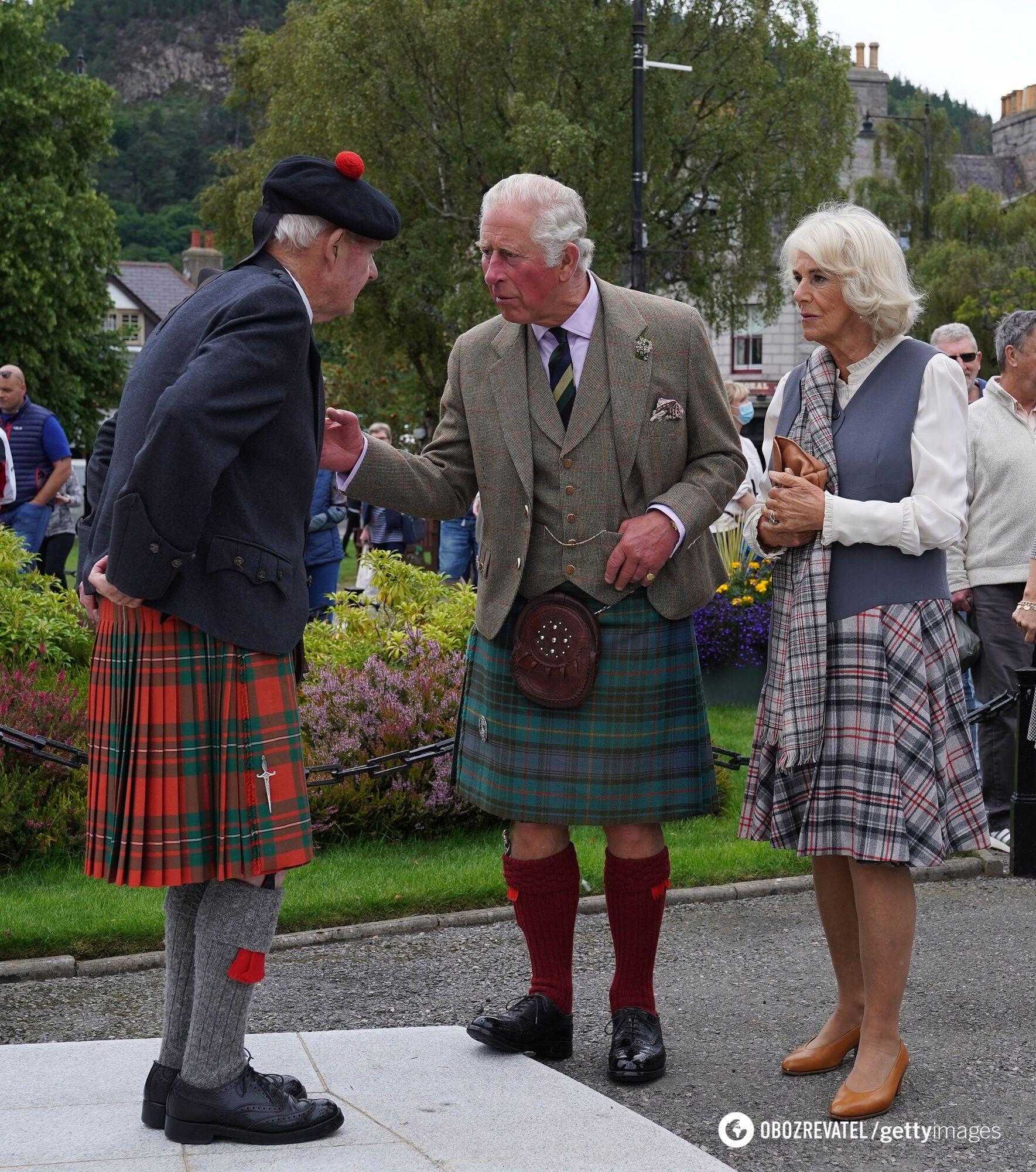 Герцогиня Корнуолльская со своим супругом в Шотландии.