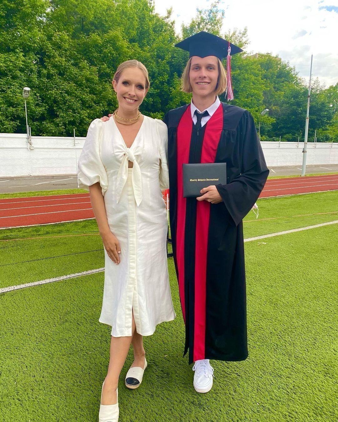 Катя Осадчая с 18-летним сыном Ильей