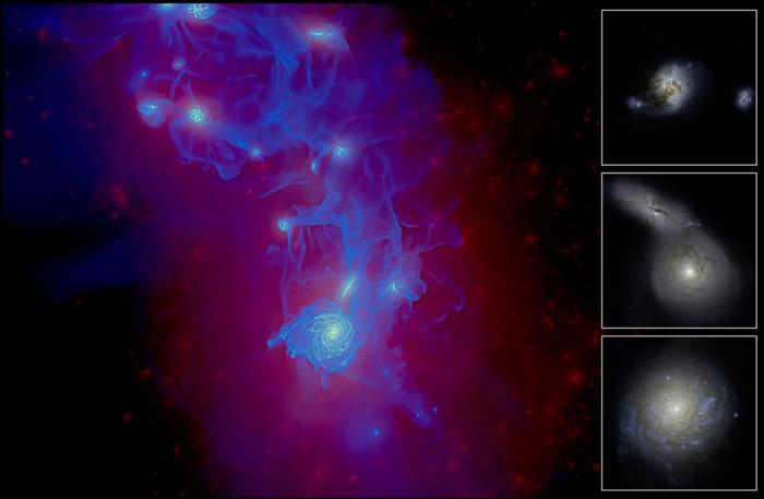 Ученые проследили развитие галактики