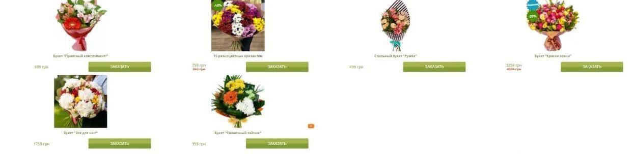 Стоимость цветов в интернет-магазине