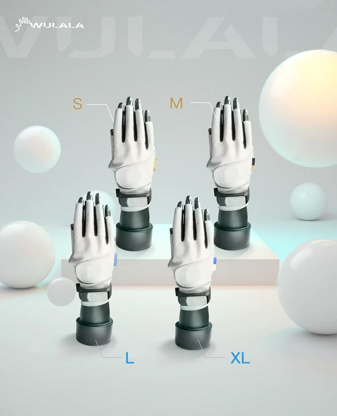 Определение жестов происходит благодаря двусторонним датчикам изгиба на каждом пальце