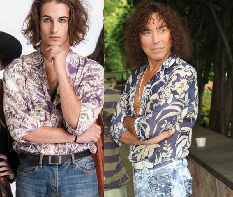 Дамиано и Леонтьев в цветных рубашках