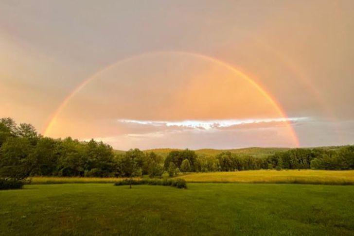 Живописные закаты в штате Вермонт в США.