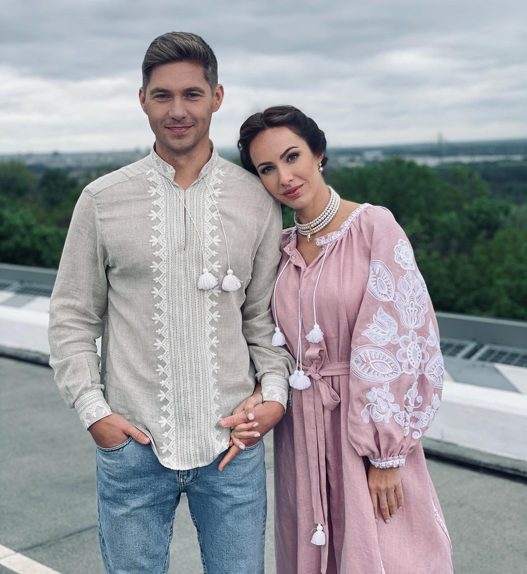 Остапчук с женой Кристиной.
