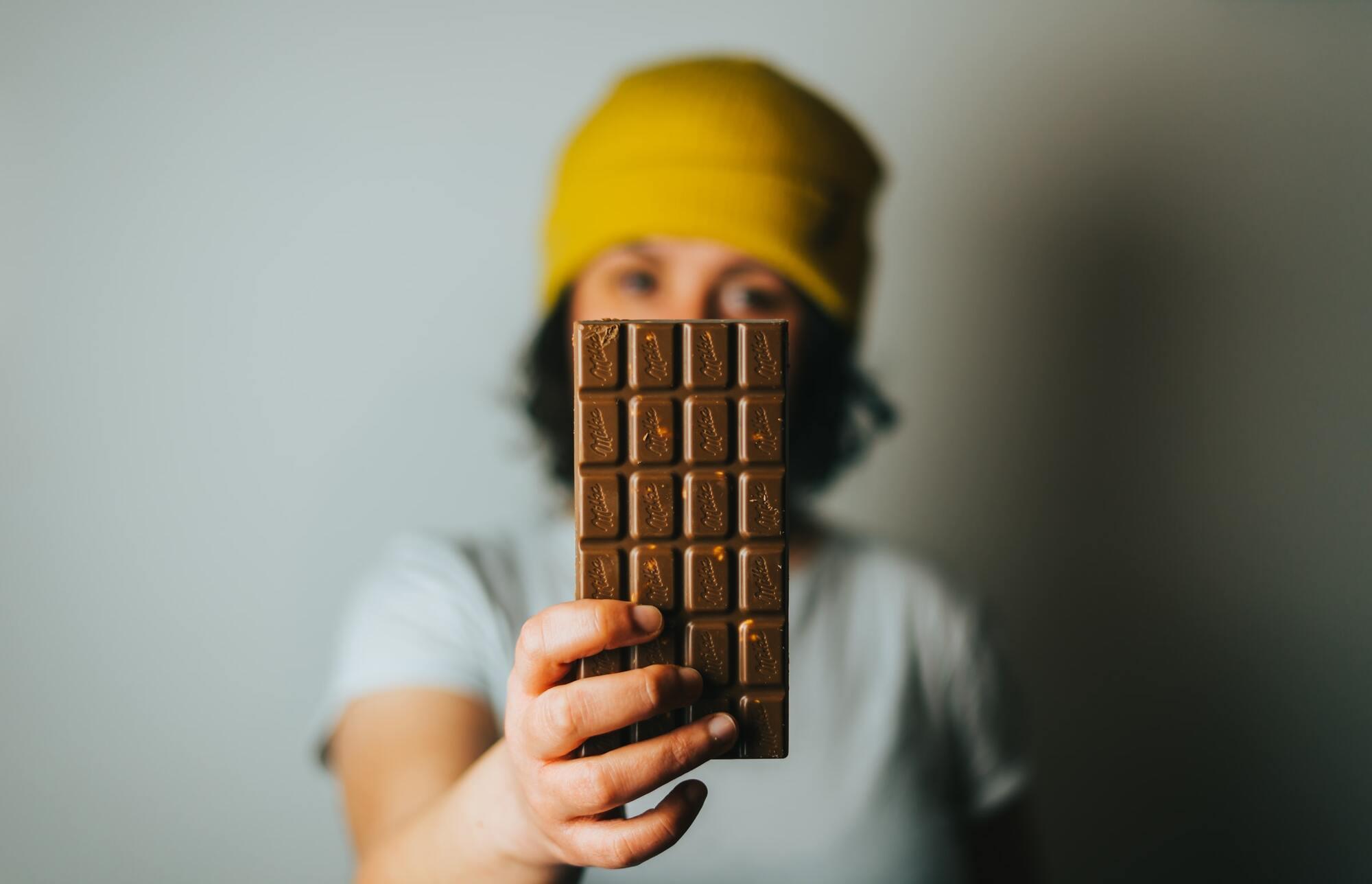 Рекомендується з'їдати невеликий шматочок шоколаду на день
