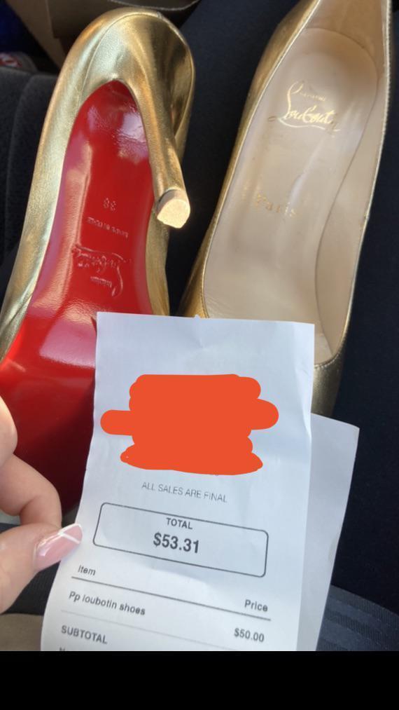 Туфли Louboutins стоят слишком дорого.