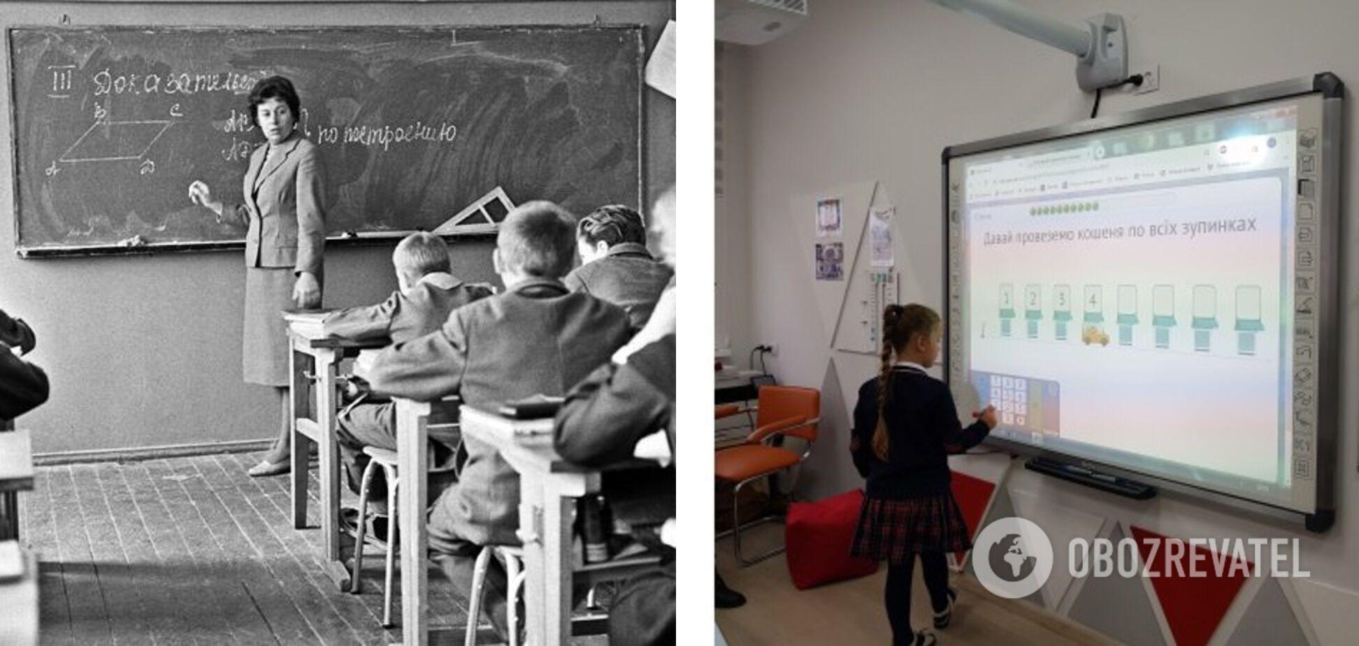 Мало хто у сучасних школах пише на дошці крейдою