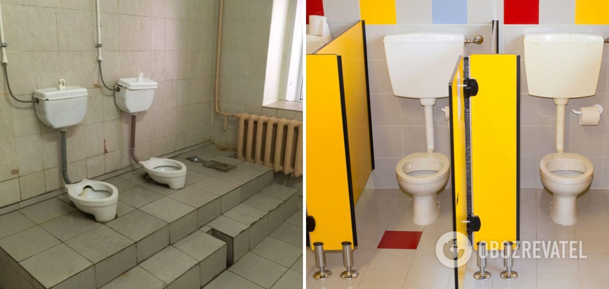 Раніше в туалетах не було кабінок і дверей