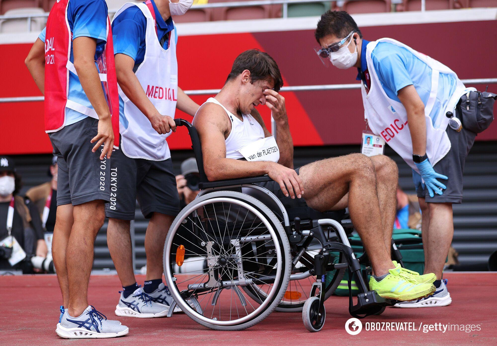 Томас ван дер Платсен в инвалидном кресле