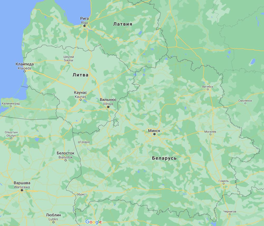 Кордон між Литвою і Білоруссю.
