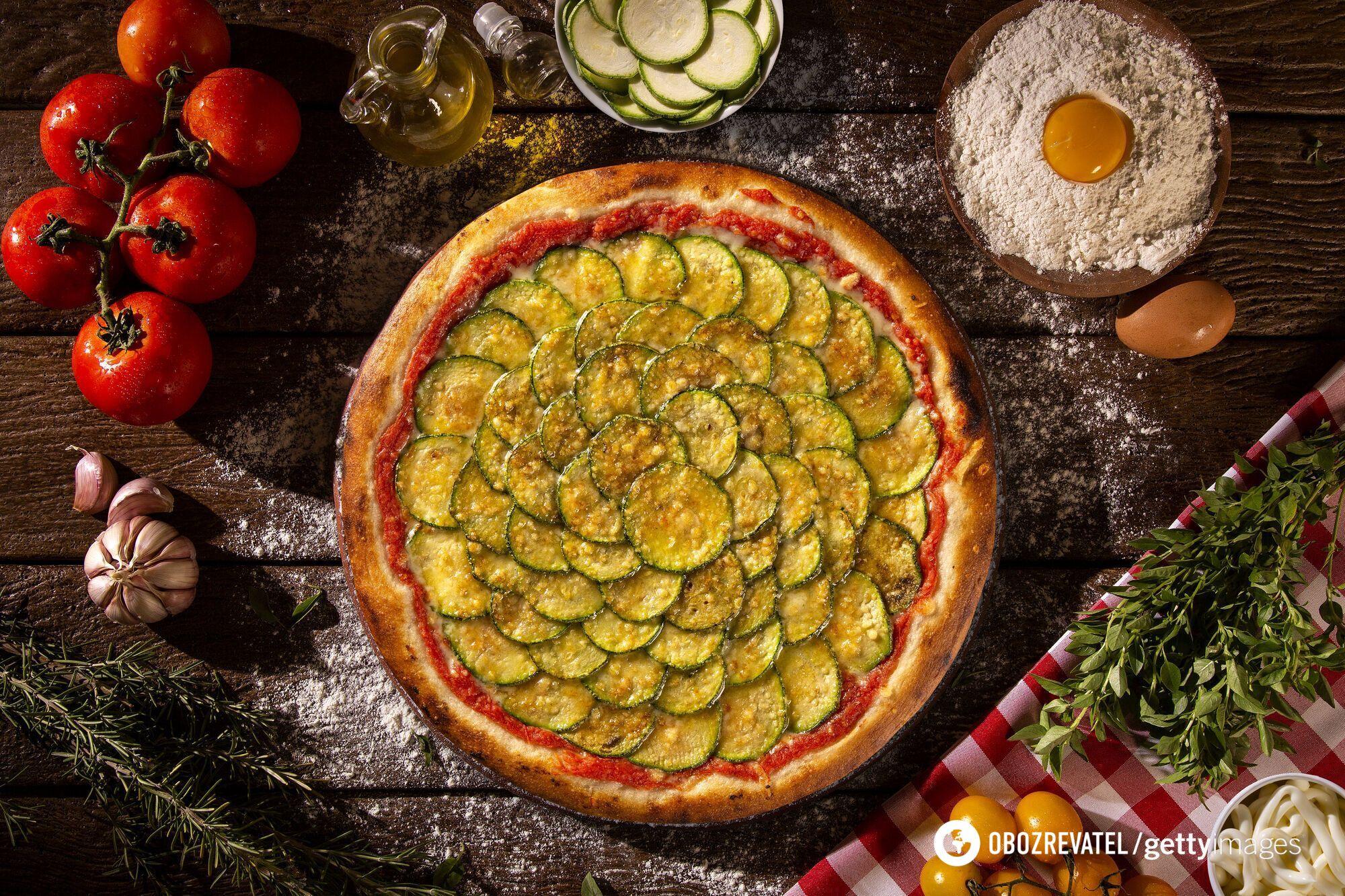 Пицца из кабачка с филе