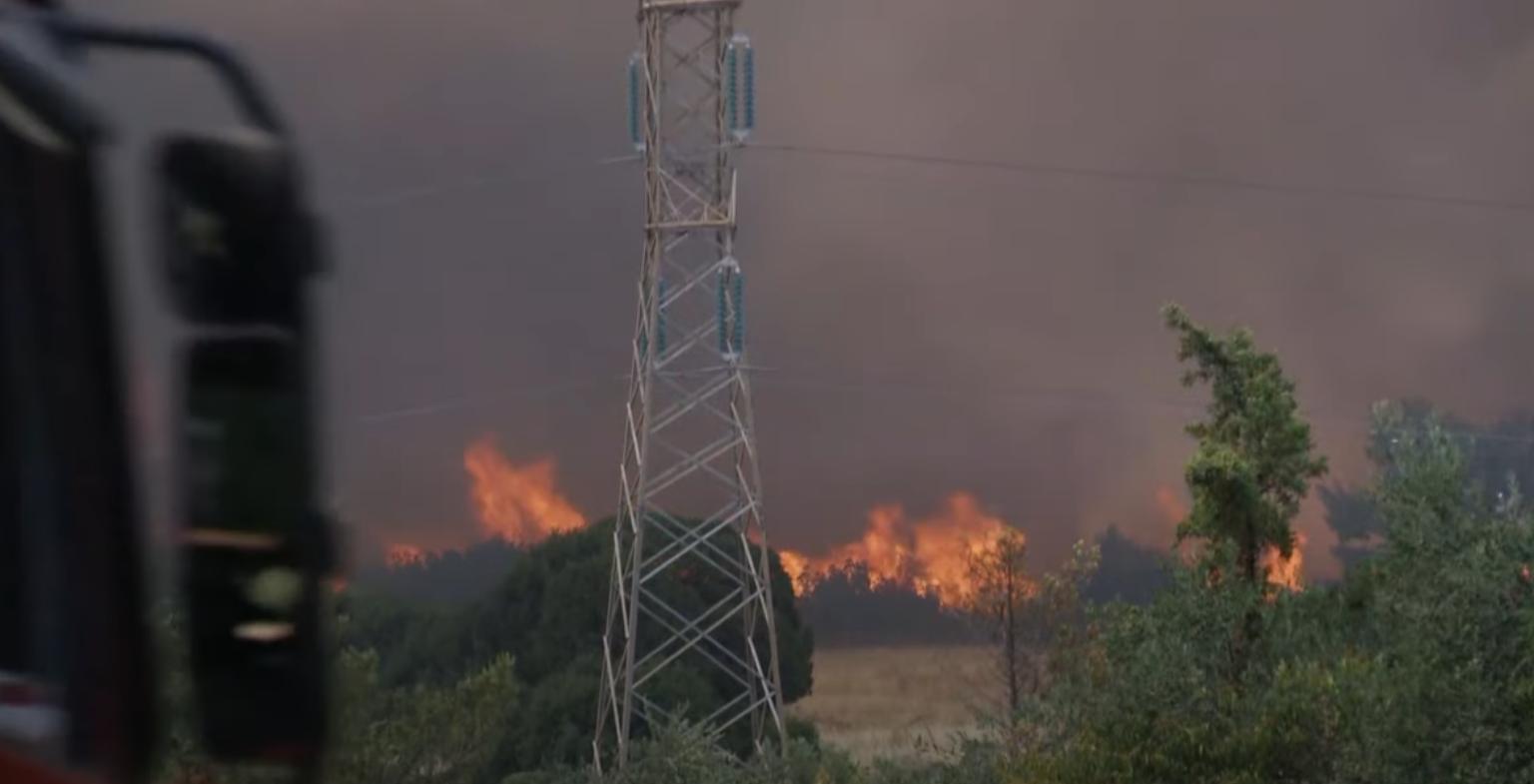 Лесные пожары в Греции.