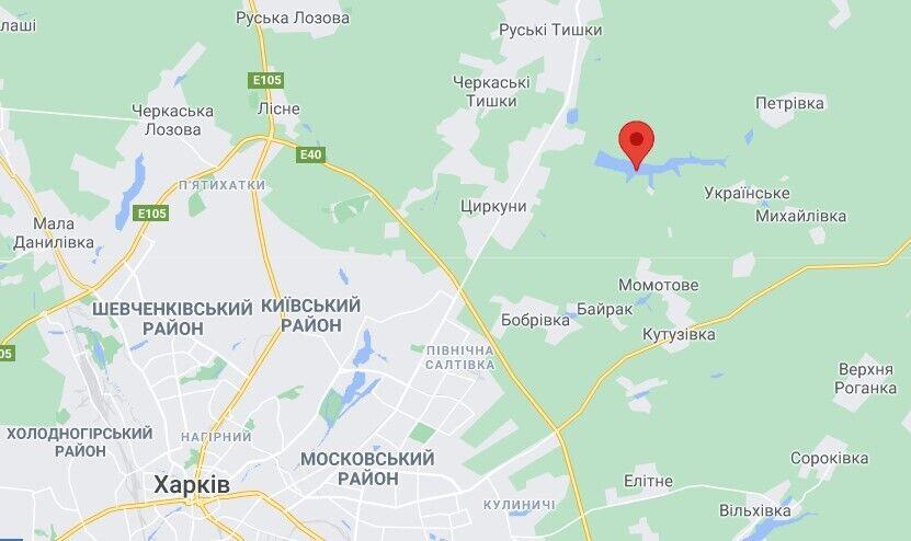 Вяловское водохранилище на Харьковщине