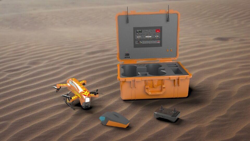 SERVITA может определять местонахождение тонущего, автоматически развертывая устройство для плавания