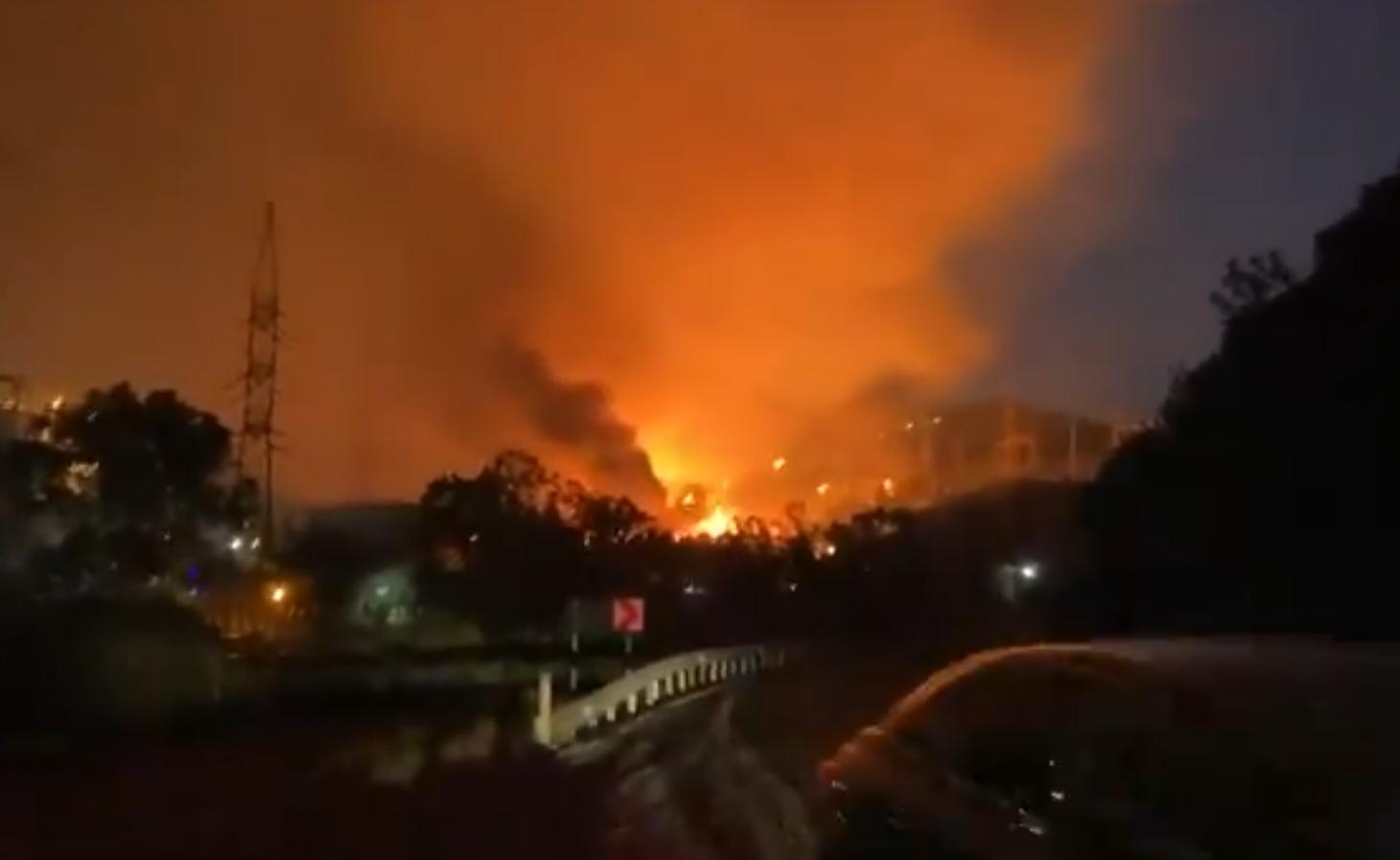 Пожар на ТЭЦ в Турции.