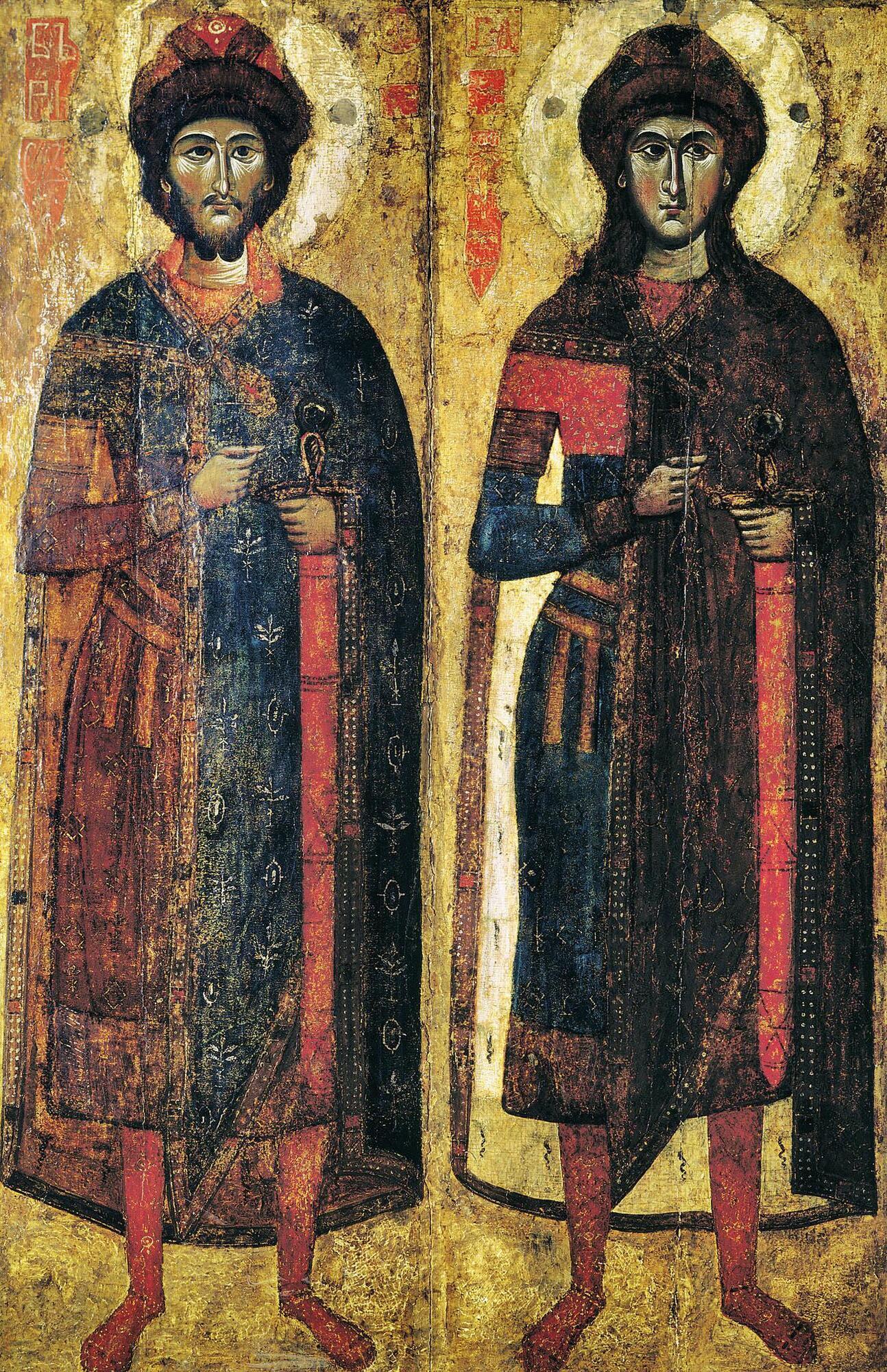 Святі Борис і Гліб були молодшими синами князя Володимира