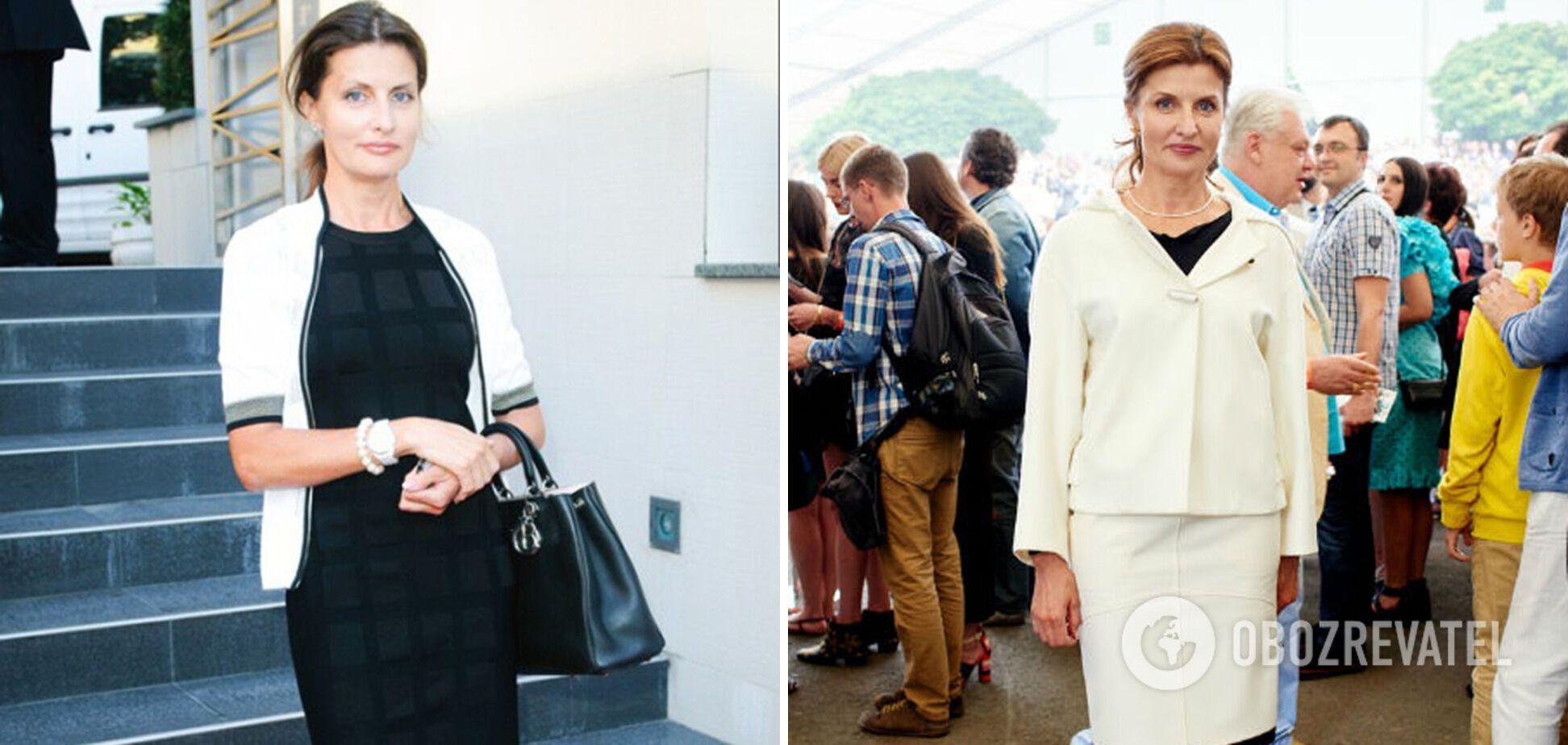 Марина Порошенко в стильных аутфитах