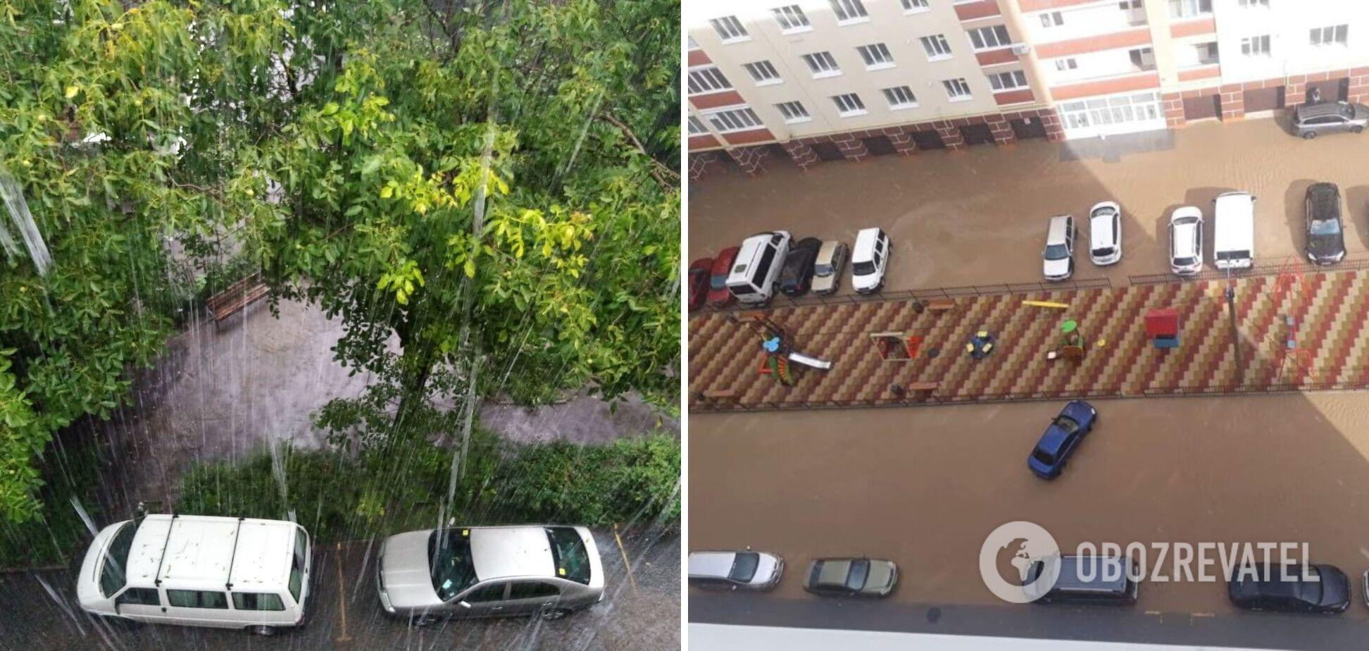 Підтоплені вулиці й двори міста