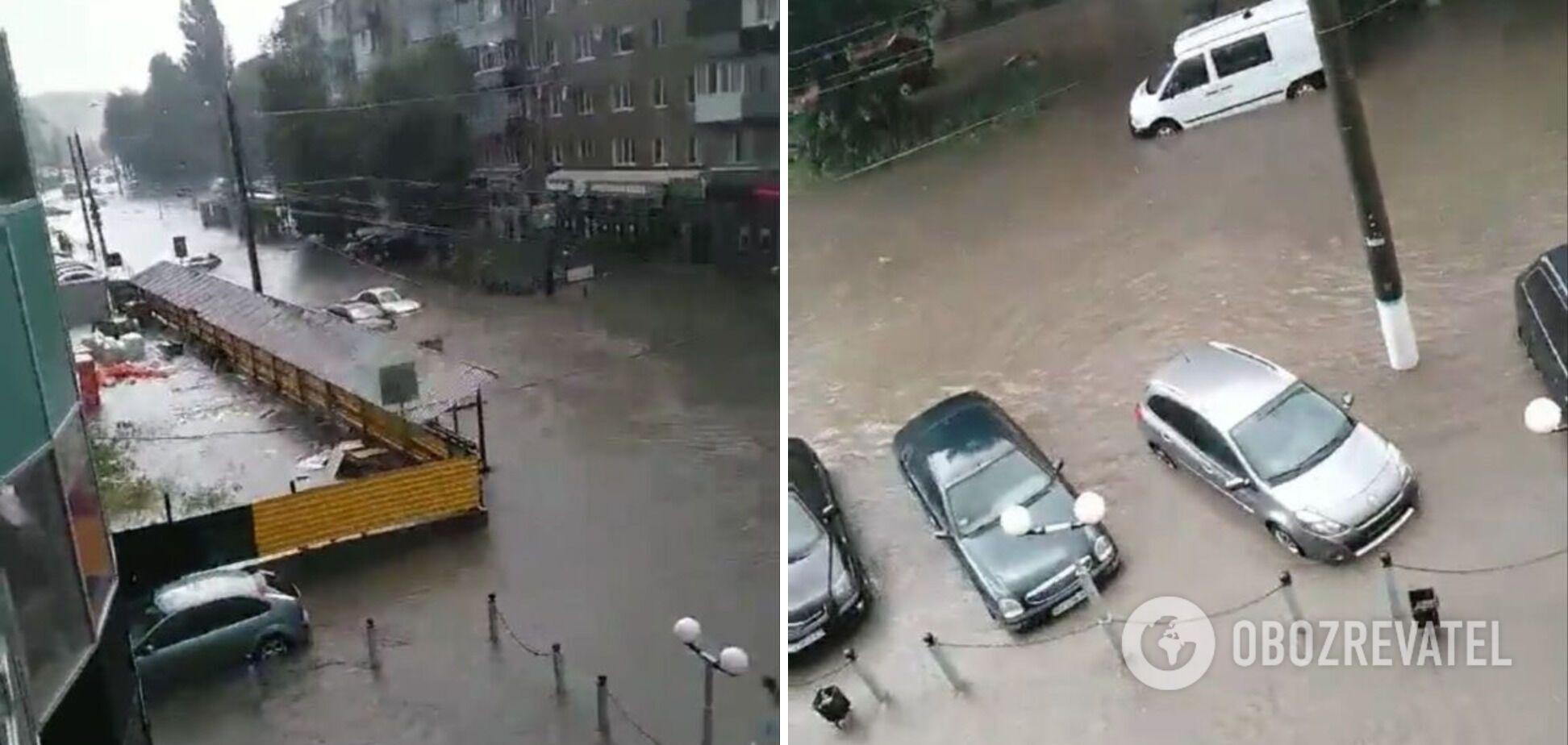Злива підтопила вулиці Хмельницького