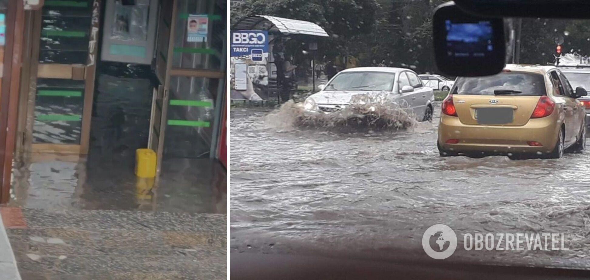 Потоп у Хмельницькому після зливи